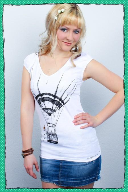Luftpost - Damenshirt -...