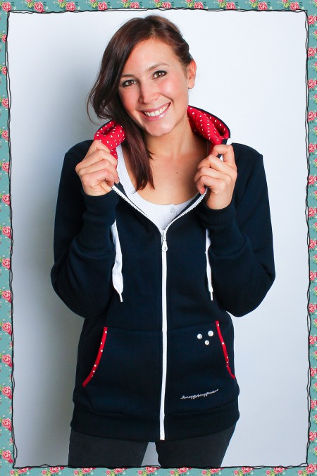 Pünktchen - Sweatjacke navy...